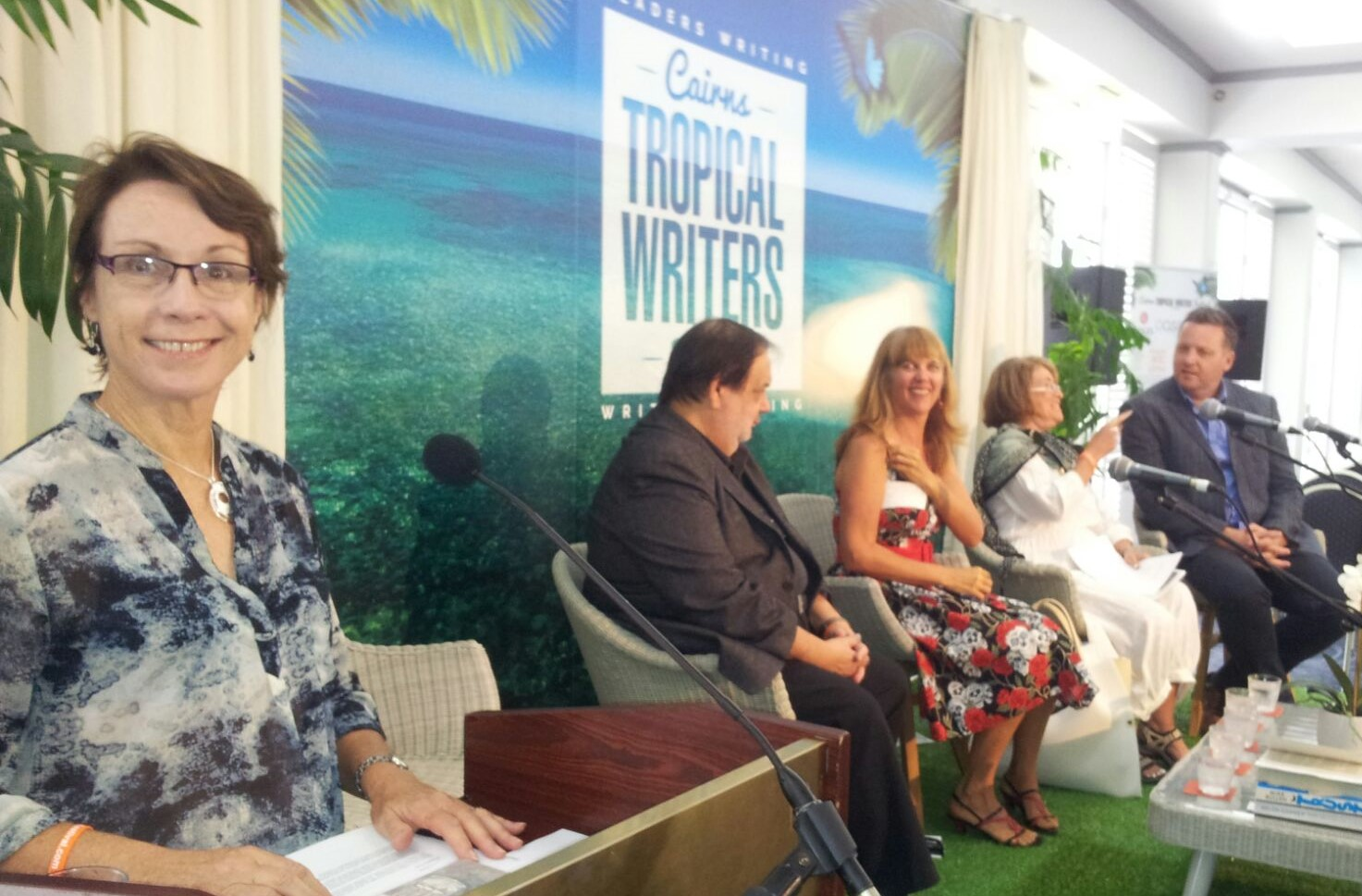 Angela Hosting the Biggest Book Club Panel at the 2016 Cairns Tropical Writers Festival