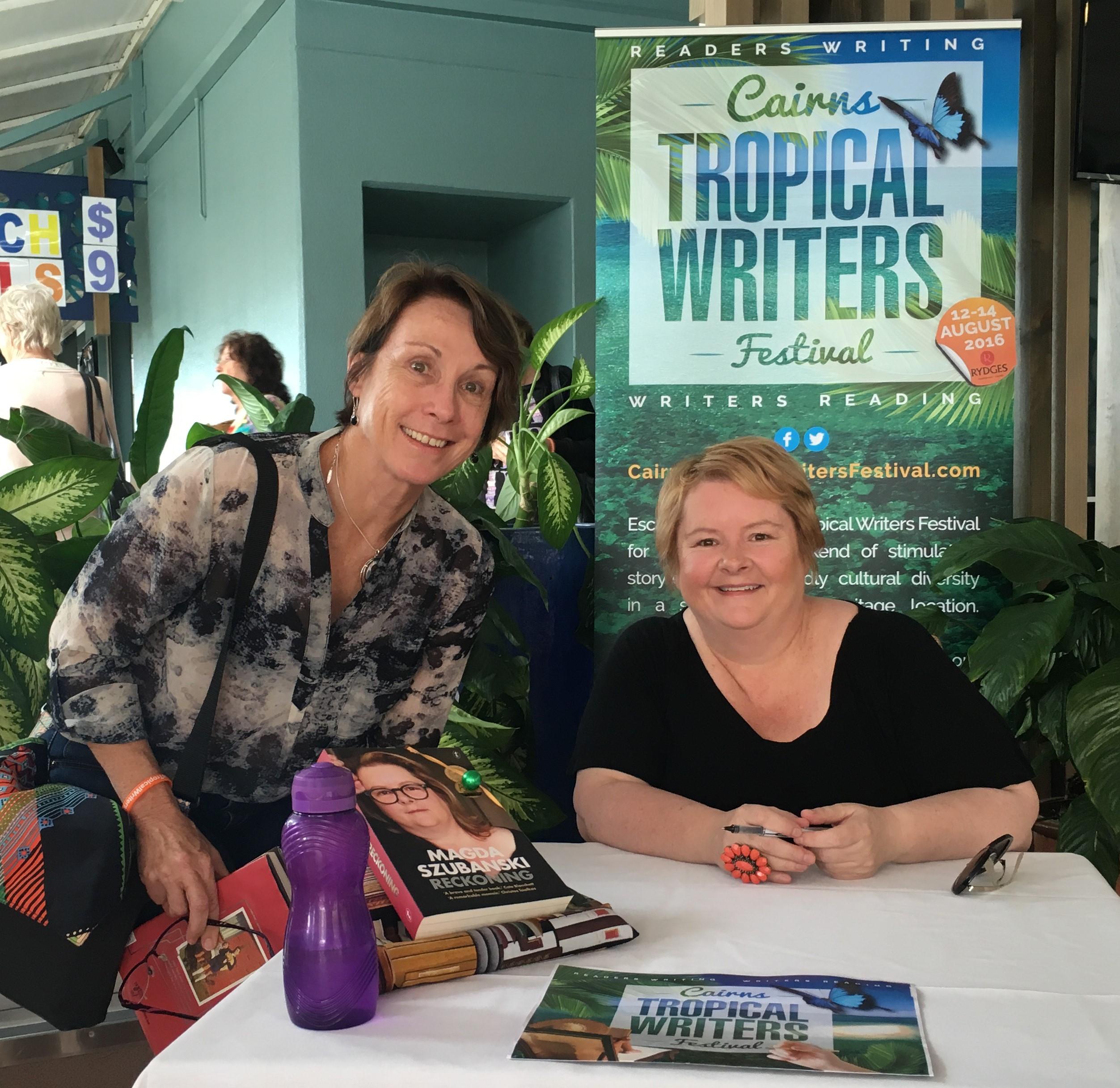 Angela and Magda Szubanski at the 2016 Cairns Tropical Writers Festival